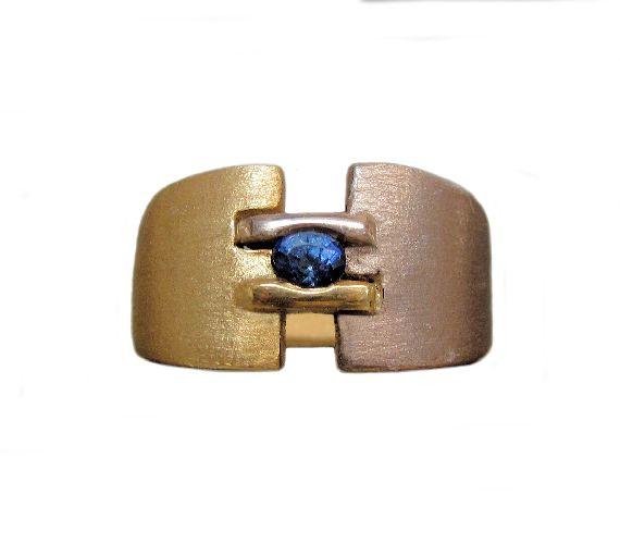 Ceylon Sapphire Mens Ring