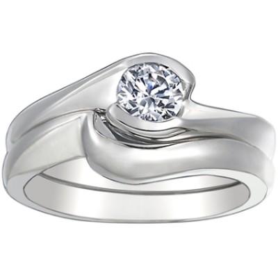 ENG025 White Wedding Ring