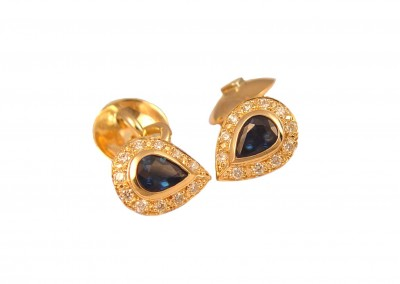 18ct Sapphire cuff links