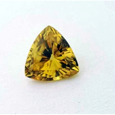 0.90ct Trilliant Cut Australian Yellow Sapphire
